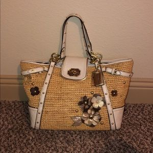 Beautiful Straw Coach Bag